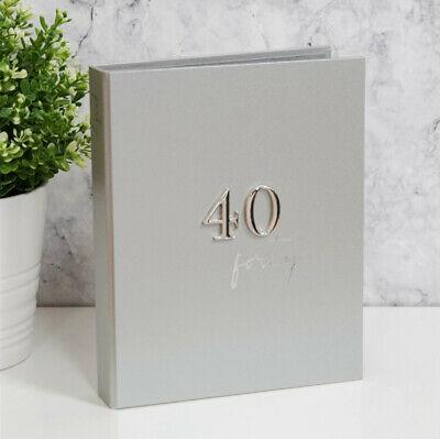 £14.99 • Buy Silver Plated 40th Birthday Photo Album Hold 48 5x7 Photo Gift Present