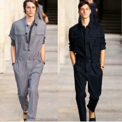 $55.14 • Buy Summer Mens Cotton Coverall One Piece Jumpsuits Pant Rompers Trouser Fashion HOT