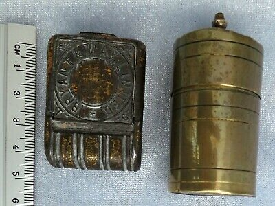 ***2 Interesting Antique Vestas PATENT Safety Light Box + Bryant May Limited Tin • 49£