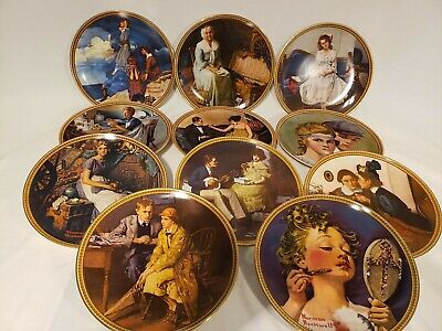 $ CDN88 • Buy Vintage Norman Rockwell 11 Plates Set 1982 - 1984 Rediscovered Women