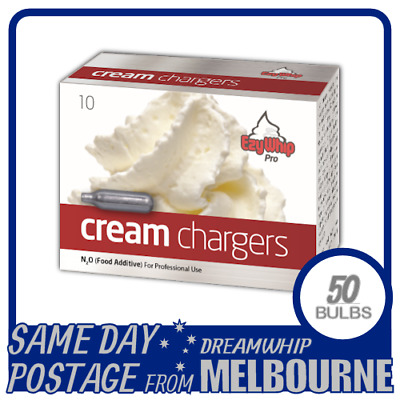 AU36.90 • Buy Same Day Postage Ezywhip Pro Cream Chargers 10 Pack X 5 (50 Bulbs) Whipped N2o