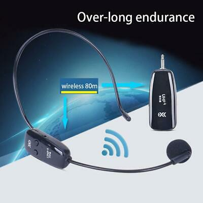 Wireless Microphone  Headset Mic UHF Transmitter + Receiver • 24.75£