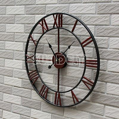 £29.85 • Buy Large 47CM Classic Vintage Cast Iron Wrought Garden Wall Mounted Clock Outdoor