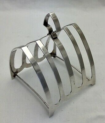 Antique Sterling Solid Silver Toast Or Letter Rack 1951 83g (1313-9-YLN) • 68£
