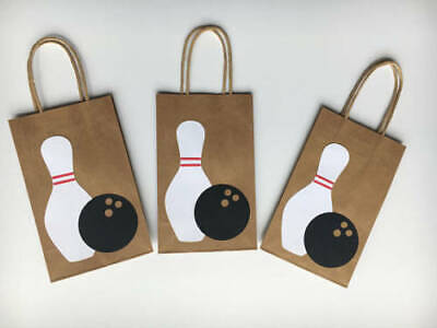 10 PC Bowling Goofy Gift Bags Party Favors Candy Treat Birthday Bag New • 12.31£