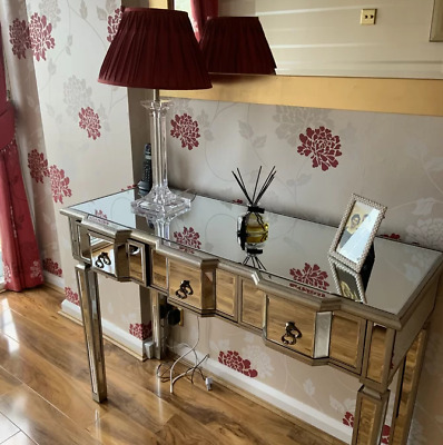 £339.90 • Buy Venetian Mirrored Console Table Large Dressing Furniture Antique Silver Glass
