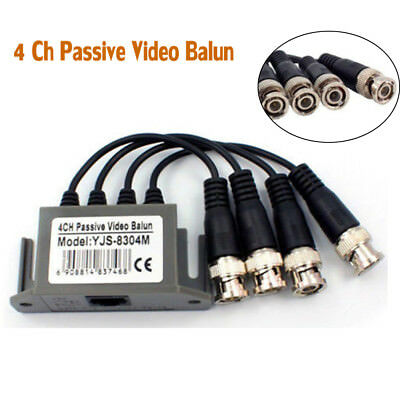 $ CDN8.68 • Buy 4 Ch Passive Video Balun Transceive BNC UTP RJ45 Coaxial Cable For Cctv Camera