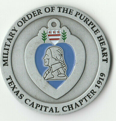 $29.95 • Buy Military Order Of The Purple Heart Texas Chapter Challenge Coin  2  DIA BX2