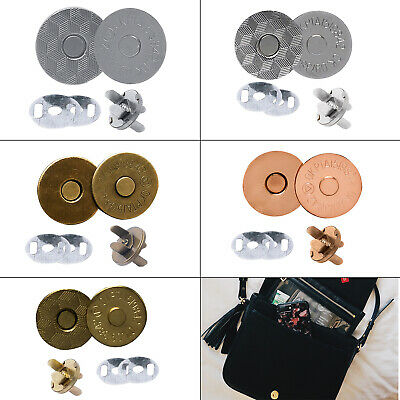 Magnetic Snap Fasteners 14mm/18mm Clasps Washers For DIY Crafts Handbags Purses • 1.95£