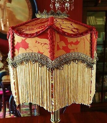 £145 • Buy Duchess. Victorian Downton Traditional Lampshade. Terracotta & Gold Damask.14