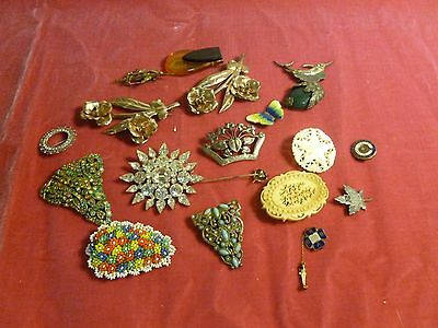 $ CDN194.12 • Buy Box Lot Of Retro Vintage Costume Jewelry Including Sterling Silver And Gold