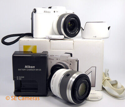 Nikon 1 V1 White Camera Body With 30-110 & 10-30 Twin Lens Kit *excellent* • 249.99£
