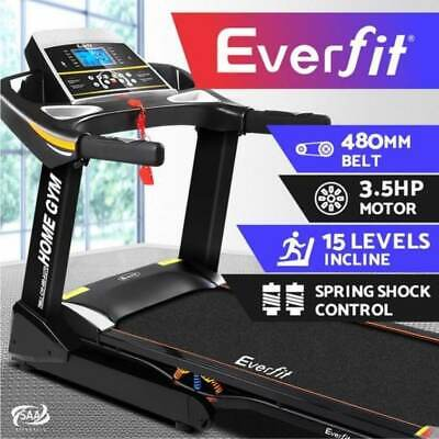 AU1093.97 • Buy Everfit Electric Treadmill Auto Incline Home Gym Exercise Machine Fitness 48cm