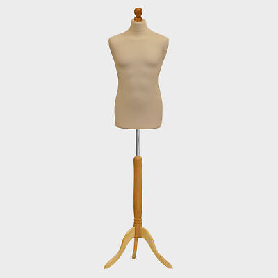 Male Tailors Dummy Tailor Display Bust Cream Fashion Students Mannequin • 18.95£