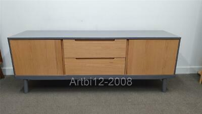 House By John Lewis Bow TV Stand Sideboard For TVs Up To 70 ,Grey RRP£549 (3218) • 419£