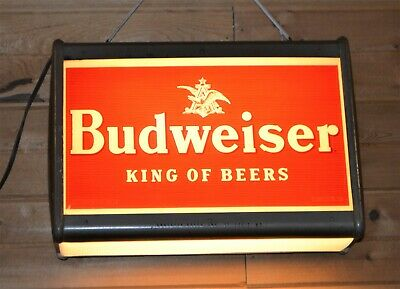 $ CDN1252.29 • Buy Extra Rare Vintage Budweiser Lighted Sign Hang Or Counter Top Metal 21  X 14.5