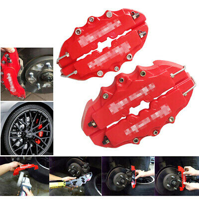 $ CDN16.70 • Buy 4PCs New Style 3D Red Disc Brake Caliper Covers Front & Rear Kits Auto Parts