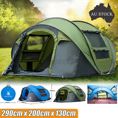AU94.99 • Buy 4-6 Person Instant Pop Up Tent Family Waterproof Backpacking Hiking Camping Tent