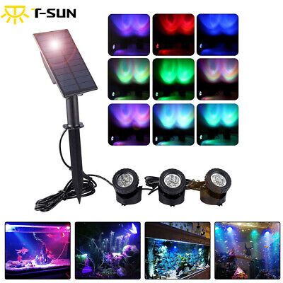 18 LED Solar Spot Light Color Changing Wall Outdoor Garden Yard Lamp Waterproof • 27.99£