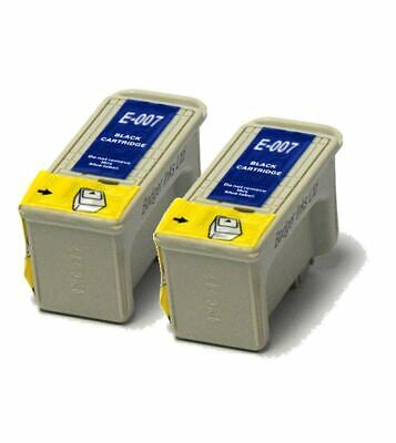 2x Black Compatible (non-OEM) Ink Cartridges To Replace T007 • 8.98£
