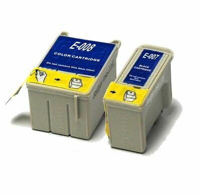 Black & Colour Compatible (non-OEM) Ink Cartridges To Replace T007 & T008 • 9.98£
