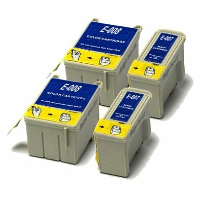 £11.98 • Buy 2x Black & 2x Colour Compatible (non-OEM) Ink Cartridges To Replace T007 & T008