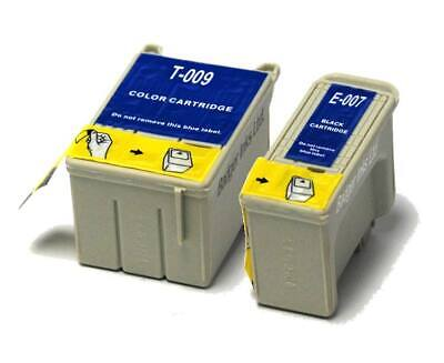Black & Colour Compatible (non-OEM) Ink Cartridges To Replace T007 & T009 • 10.98£