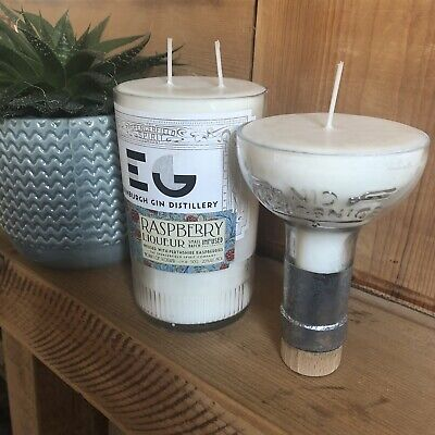 Tanqueray Gin Full Bottle Upcycled Rangpur Lime Candle X2 Soy Vegan Gift Yankee • 25£