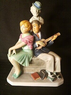 $ CDN68.07 • Buy Gorham SERENADE Norman Rockwell's Cover Painting Figurine Porcelain LIMITED