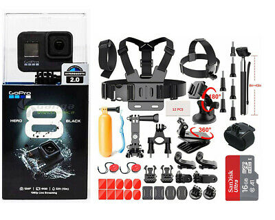 $ CDN474.91 • Buy NEW SEALED GoPro Hero 8 Black Waterproof Action Camera CHDHX801 With Sport Kits