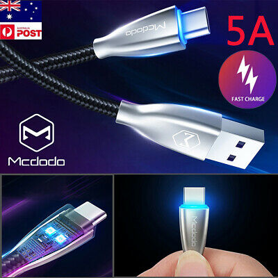 AU9.79 • Buy Mcdodo LED USB Type-C 3.1 5A Fast Charging Quick Charger Data Sync Cable Cord