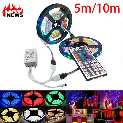 $12.99 • Buy 32FT Flexible Strip Light 3528 RGB LED SMD Remote Fairy Lights Room TV Party Bar