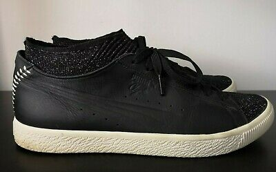 Mens PUMA Clyde Black Sock Lace Up Trainers VGC - UK 10 • 24.95£