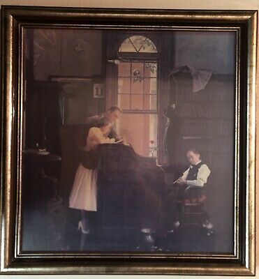 $ CDN150.38 • Buy Framed And Signed Norman Rockwell Marriage License