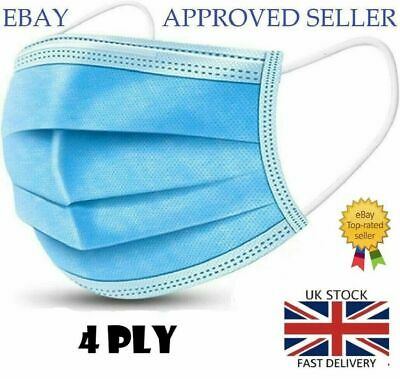 Disposable Earloop 4PLY Face Mask Mouth Cover  • 6.95£
