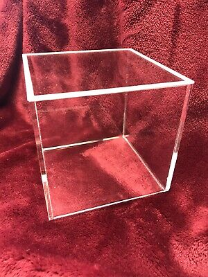 """Culpitt Cake Display Box/Separator With Removable Rebated Lid Acrylic 4""""x4"""" • 17.50£"""