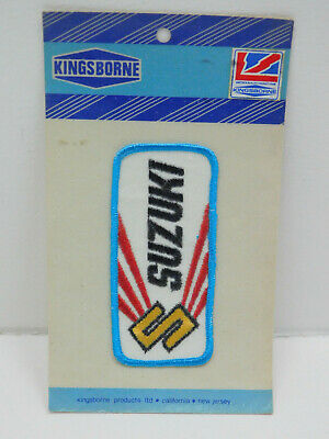 $7.99 • Buy Vintage NOS New Old Stock Kingsborne NJ SUZUKI Patch Blue Iron Or Sew NIP 4.5