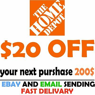 $0.99 • Buy Home Depot Coupon $20 OFF $200 [Online-Use Only] --Very-FAST_SENT--