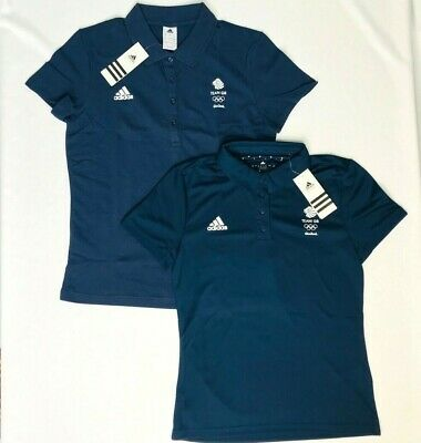 £11 • Buy Official Olympic Polo Shirt Adidas Team GB Blue Womens Latest Kit Size XS S M L