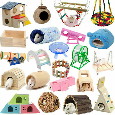 Hamster Hanging Swing Bed Hammock Running Wheel Guinea Pig Rat Cage Tube Tunnel • 3.80£