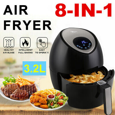 View Details 3.2L Air Fryer Healthy Frying Cooker Low Fat Oil Free Kitchen Oven Timer 1500W • 45.99£