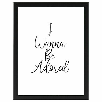 I Wanna Be Adored, Stone Roses, Lyrics, Poster, Print A4 Or A5 • 2.50£