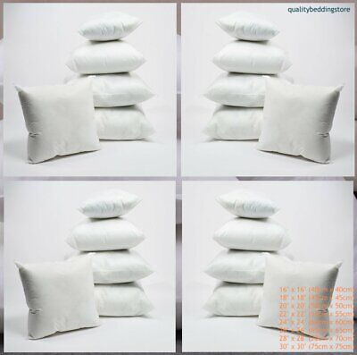 100% Hollow-fibre Scatter Cushion Pads Insert Filler Inner Pads In All Sizes • 3.15£
