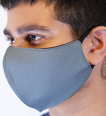 FACE MASK 2 LAYERS VIRUS Dust Pollen Protection Adjustable Washable UNISEX • 2.99£