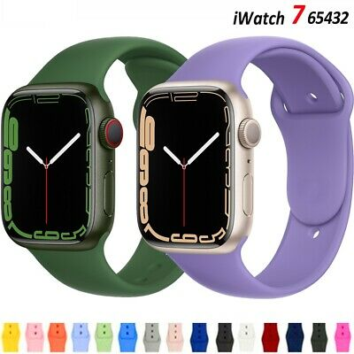 $ CDN7.09 • Buy Replacement Silicone Sport Band IWatch Strap For Apple Watch Series 6/5/4/3/2/SE