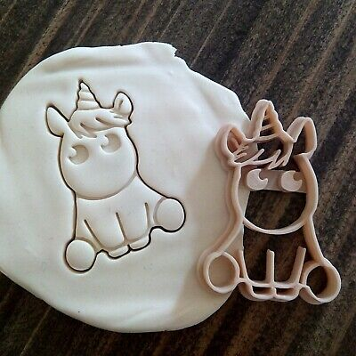 £4.99 • Buy Baby Unicorn Cookie Pastry Biscuit Cutter Icing Fondant Baking Clay Kitchen Cute
