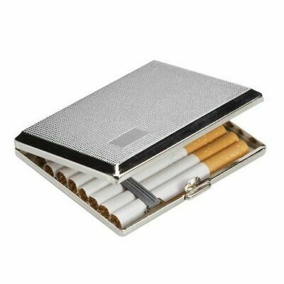 Chrome Cigarette Cigar Case Holder Big Case Smoking Accessory Tobacco Uk Seller • 5.49£