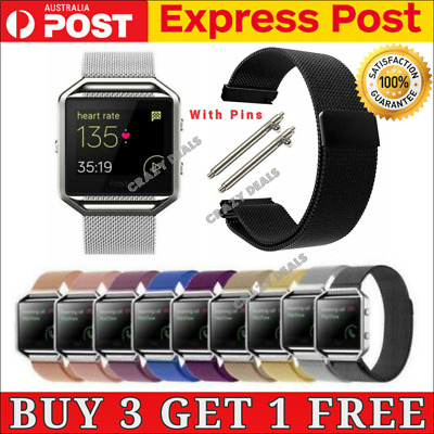 AU7.95 • Buy Replacement Milanese Stainless Steel Watch Band Wrist Strap For Fitbit Blaze