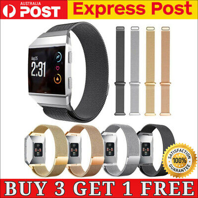 AU11.90 • Buy For Fitbit Ionic Milanese Magnetic Loop Steel Watch Replacement Strap Band Black