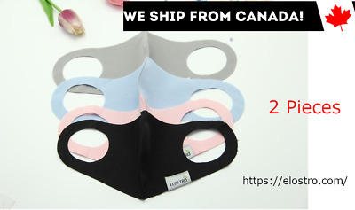 $ CDN7.49 • Buy 2 Pack - Reusable Washable Face Mask With Breathing Valve Ships From Canada